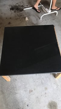 Square black wooden coffee table Oxnard, 93030
