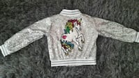 Age 5 sequin unicorn bomber jacket nwt Warrington, WA2