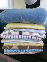 assorted-color-and-pattern towel lot