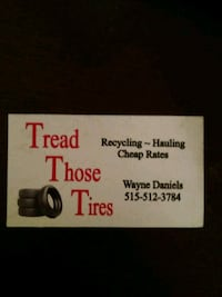 Tire removal/Junk removal Des Moines