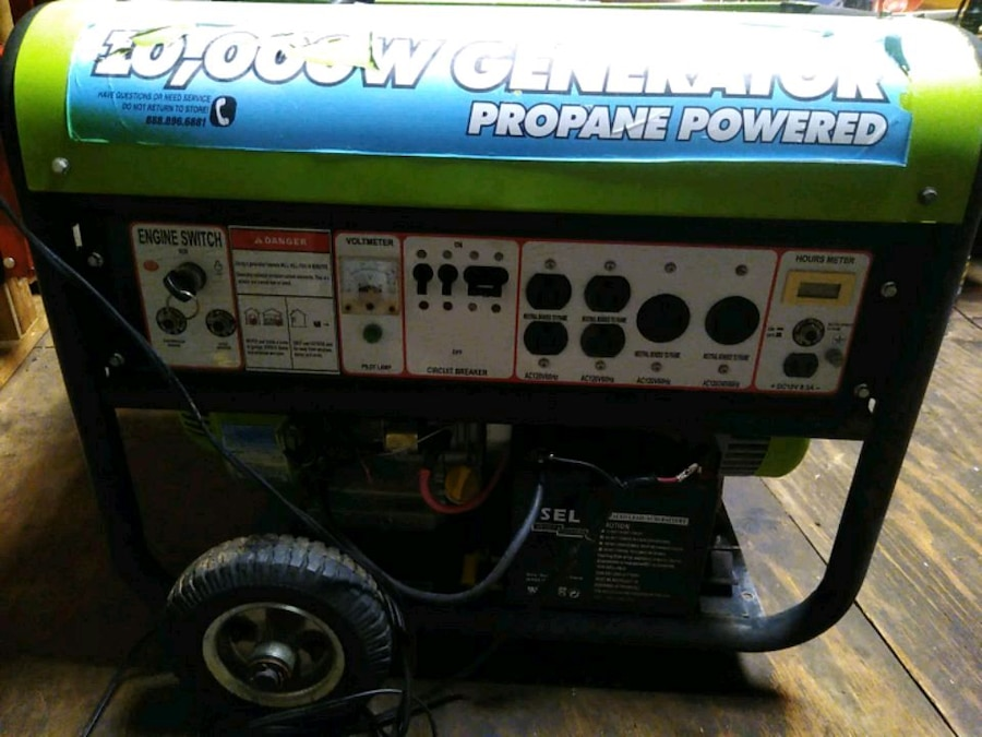 Photo All Power 10,000 Propane Powered Generator