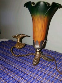 Vintage Amber/Green Tulip Lily Lamp Catonsville, 21228