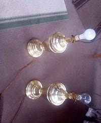 two brass table lamp bases Crete, 60417