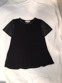 Leather sleeved peplum top- Ann Taylor Loft Gaithersburg, 20878