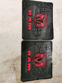 Dodge Ram floor rubber mats rear