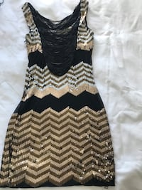 Black and white chevron sleeveless dress size Small Bolton, L7E 2V1