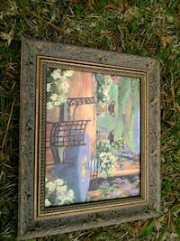 brown wooden framed painting of green leaf plant Conway, 29526