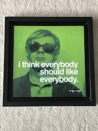 Andy Warhol framed quote Toronto, M5A 2Z3