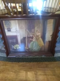 vintage beautiful framed picture Red Lion, 17356