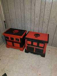 red and black wooden table Englewood, 80110