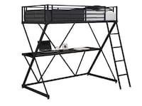 DHP X twin metal bunkbed over workstation BROOMFIELD