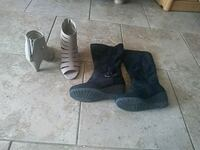 pair of black leather boots Killeen, 76549