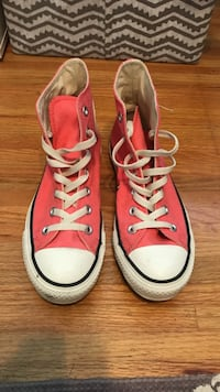 Pink Converse high tops, size W 7 New Westminster, V3L 3G8