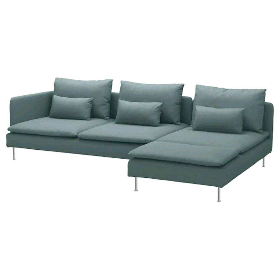 SÖDERHAMN sectional sofa with chaise
