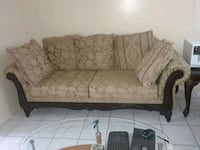 white and brown floral fabric loveseat West Palm Beach, 33415