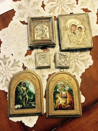 Four silver Orthodox Greek icons Lutherville Timonium, 21093