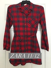 red and black plaid trench coat \ Riverside, 92508