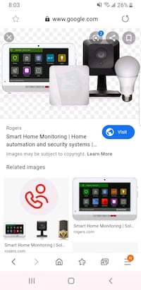 Rogers smart home monitoring equipments