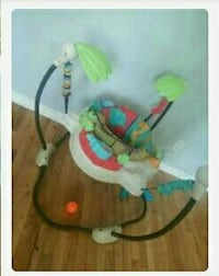 baby's red and white Fisher-Price jumperoo Edmonton, T5P 0Z5