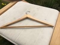 Wooden clothes hangers each obo Edmonton, T5Y 4M2