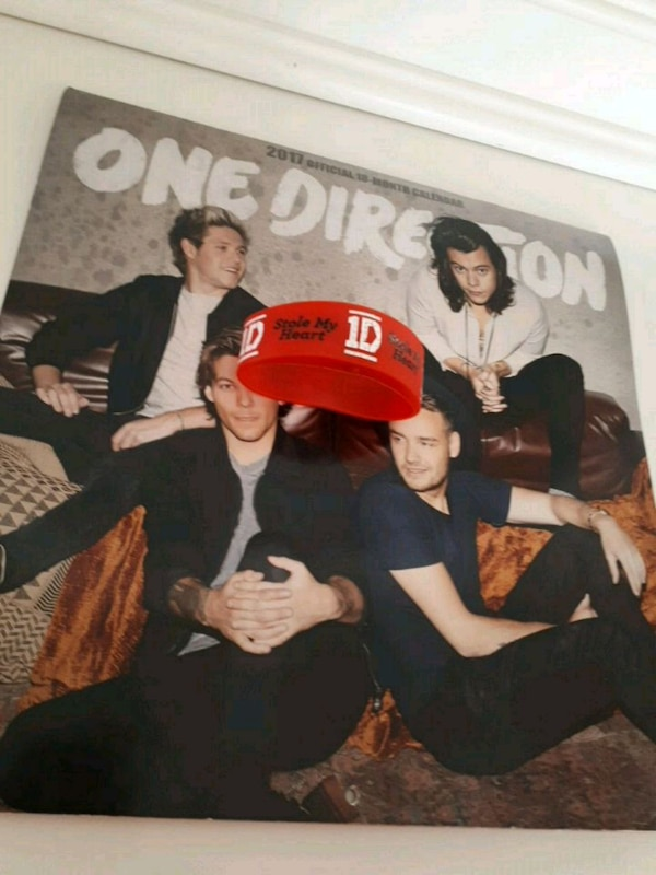 1D Poster And Wristband Fan Bundle