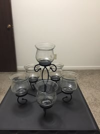 black wrought iron tealight candle holders