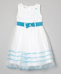 white and blue floral sleeveless dress London, N6E 3R1