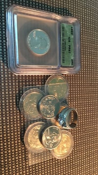 round silver-colored coin lot