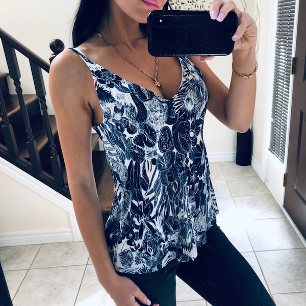 Floral lined top size XS / S 4