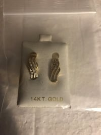 14k 1ctw Diamond omega back earrings 5.3 grams  Homestead, 33032