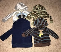 Four hoodie jackets