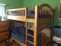 Brown wooden bunk bed with mattress Miami Beach, 33141