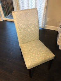 white and gray fabric padded chair Parker, 80134