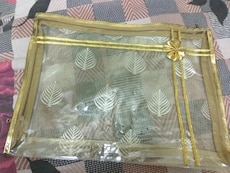 """Saree cover (GOLD) (2"""" inch)"""