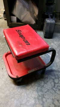 Snap on creeper seat with drawer