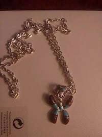 New sterling turquoise with purple necklace 1624 mi