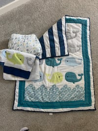 Baby bedding and mobile