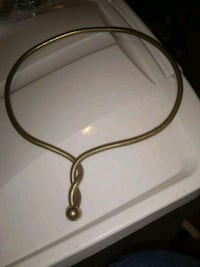 Flexible Gold tone Necklace Bryan