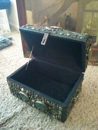 black and gray wooden chest box Greenwood, 46143