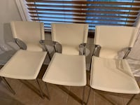 White leather dining chair Markham, L6B 0P4