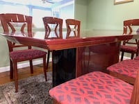Rialto Italian dining table + Luna Chairs Fairfax