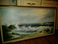 Art Portrait Painting-Oil Painted Of Pacific Ocean Huntington Beach, 92647