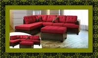 Red sectional with ottoman Prince George's County