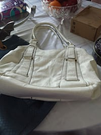 white leather handbag Barrie, L4N 6V3