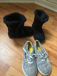 pair of black-and-gray boots Mississauga, L5B 4B1