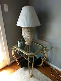 2 wrought iron and glass top end tables & lamps Abingdon, 21009