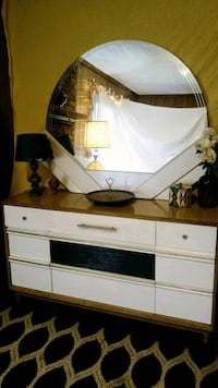 white and brown wooden dresser with mirror Athens, 30601