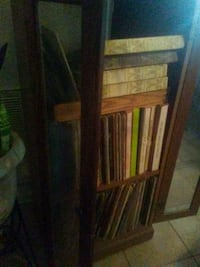 A lots of long playing record include the cabinet Jacksonville, 32244