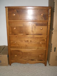 Used 4 Drawer Solid Maple Dresser For Sale In Wellington