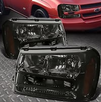 2002-2009 Chevy Trailblazer headlights (smoked) and taillights (regular) Arlington